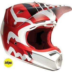 Fox Racing Savant Men's V3 Motocross Motorcycle Helmet – Red / Large by Fox Racing