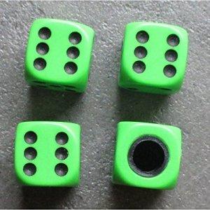 inconnu – bouchon valve de roue (x4) de vert fluo auto moto velo
