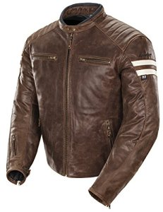 Joe Rocket Classic '92 Men's Leather Motorcycle Jacket (Brown/Cream, Medium) by Joe Rocket