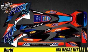 Kit Déco Moto pour/MX Decal Kit for Derbi 50 – Fox