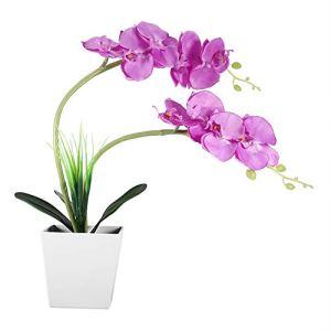 Lampe de fleur artificielle, 9LED Lampe de pot de fleur artificielle Simulation Phalaenopsis Bonsai Flower Light DIY Décoration de la maison