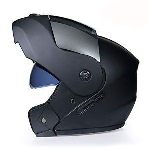 NBGT Moto Modulable Casque modulaire Doublure Amovible Casque Full Face Double Visor Bouclier Rabattable Casque intégral Casque Double visière Shield Rabattable Casque (S55cm ~ XL62cm),XL