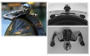 Ornement phare skull moto – Highway Hawk petit modèle