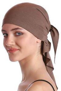Plaine Unisexe Bandana Pour Perte De Cheveux, Cancer, Chimio (Mink)