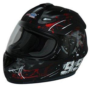 Protectwear Casque moto intégral, noir / rouge, Conception 99, FS-801-99R ,Taille: XL