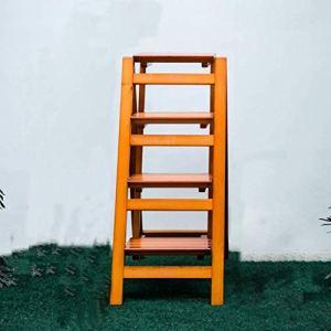QEE Marchepied Pour Adultes En Bois Massif Maison Multi Fonction Pliante Échelle 3 Chaise Étape Intérieur Ascending Rack Échelle En Bois / H1 / h1