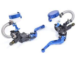 WildBee Doubles Pompes Universal Bleu Moto Ajustable Frein à main Master Cylinder avec réservoir de fluide