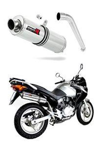 XL 125 V Varadero Pot d'échappement Rond Silencieux Dominator Exhaust Racing Slip-on 2007 2008 2009 2010 2011 2012