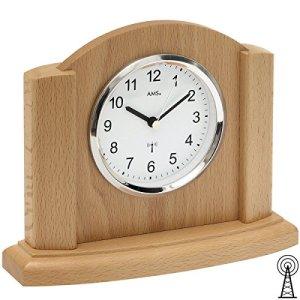 AMS f5122/18radio horloge de table, Bois, multicolore, 24x 30x 12cm