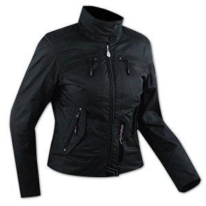 A-pro Blouson Textile Nylon Impermeable Chaud Etanche Protections CE Femme noir M
