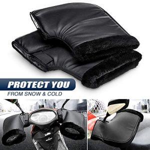 AUDEW Moto Hiver au Chaud Poignée Protection de Gants de Bar Thermique Couverture Imperméable