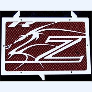 cache radiateur / grille de radiateur Z750, Z800 et Z1000 07>12 «Dragon» + grillage rouge