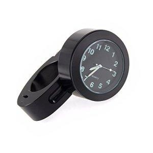 Espeedy Vélo Moto Guidon support Mini imperméable Cadran montre Horloge, Noir