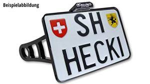 HeinzBikes Support de Plaque d'immatriculation Side Mount Chromé Sportster jusqu'à 2019 CH avec éclairage LED pour Plaque d'immatriculation