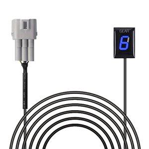Indicateur de Vitesse étanche Moto Affichage LED Plug & Play pour Suzuki (Bleu)