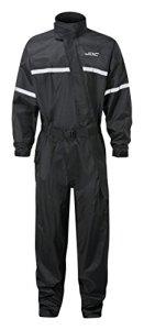 JDC Combinaisonde pluieintégrale pour moto – SHIELD – Black – M
