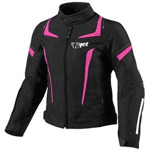 JET Blouson Veste Moto Femme Imperméable avec Armure Textile (Rose, L (EU 40-42))