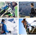 LALEO Lunettes Moto, Lentille Argentée Protection Nasale Amovible Anti-Buée Windproof Protection UV Lunettes Aviateurs Biker Scooter Sport de Protection Motocross Ski,Redwhite