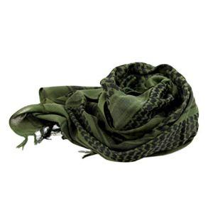LIOOBO Tour de Cou Foulard Wrap Foulard Arabe Wrap Épaissi avec Gland pour La Randonnée Désert en Plein Air 110X110cm Rouge Et Noir