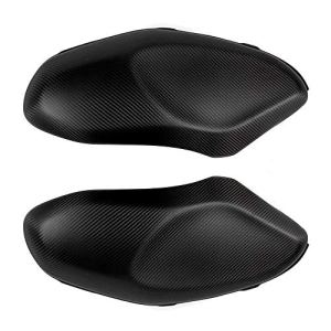 MUJUN Réserve New Carbon Side Couvre réservoir Protecteur de Moto réservoir Couvertures Sliders Protections 100% en Fibre de Carbone 3K for Yamaha 900 XSR900 XSR (Color : Matt Black)