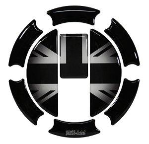 Protection de réservoir 3D 650004 Union Jack Silver pour réservoir triumph.