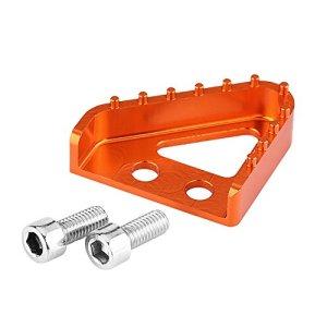Qiilu Repose-Pieds Pédale de Frein Arrière CNC Moto Pointe de Plaque d'étape pour RC125 / 200/390 690/990(Orange)