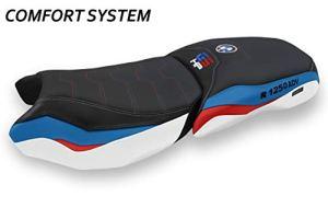 Revêtement de Selle Compatible avec R 1250 GS HP Adventure modèle Racconigi 1 Comfort System (Multicolore)