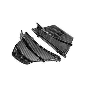 WONYAN Motorcycle Partie Nouvelle fibre de carbone moto Aérodynamique aile Kit fixe Winglet Wing Carénage Gloss for Ducati Weave Twill Panigale V4 (Color : Gloss)