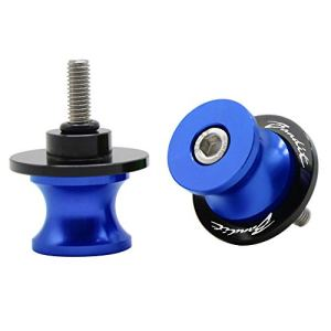 2pcs Diabolos M8*1.5 CNC Aluminum pour Suzuki GSF 250 400 600 600S 650 650S 650N 1200 1250 Bandit 650S(Bleu)