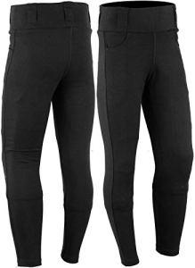 Bikers Gear Australia Limited pour femme avec doublure en Kevlar de protection pour moto Legging avec amovible CE Armour, Noir, taille 8