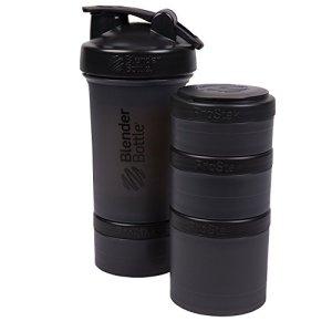 Blender Bottle ProStak 22 bouteille avec 6 pièce Twist nâ écluse stockage aménagée, noir