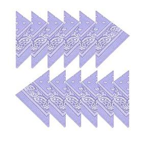 Boolavard Coton, 1er 6 ou 12 Pack Bandanas avec motif Paisley original | Couleur au choix (12 Lilas)