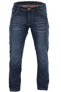 BUSA Black Tab Stretch Kevlar Moto Jeans Aramid Protections amovibles genoux et hanches Bleu