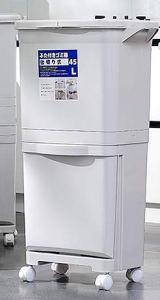 DIAO Double Couche sèche et Humide Poubelle de tri des déchets de bac de séparation for Un Usage Domestique, avec Un Couvercle, l'odeur de Preuve, à Grande échelle Cuisine Recyclable