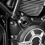Ducati Scrambler 800 – Cadre Coulisses 'Warrior' (D-0201) – Aluminium Protection Anti-chute Crash Barre Coque – Visserie Incluses – Accessoires De Pretto Moto (DPM Race) – 100% Made in Italy