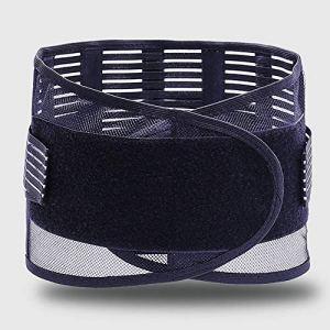 Hhjkl Support Bas du Dos Soulagement dysménorrhée Douleur Abdominale Taille Portable Pad Taille Plus Chaud for Les Femmes Convient Gym Posture Entrainement (Color : Black, Size : M)