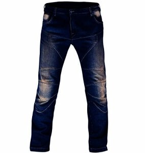Juicy Trendz de Protection Moto Pantalon Jeans Renforcé avec Protection Aramide Doublure, Bleu, W36-L30