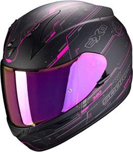SCORPION Casque moto EXO-390 BEAT Matt Black-Pink, Noir/Rose, M