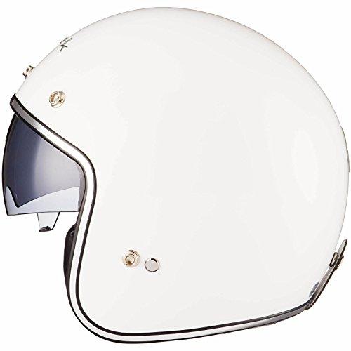 Black Classic Open Face Helmet S White