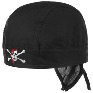 Chillouts Bandana Red Pirate Foulard Foulard têtes de Mort (Taille Unique – Noir)