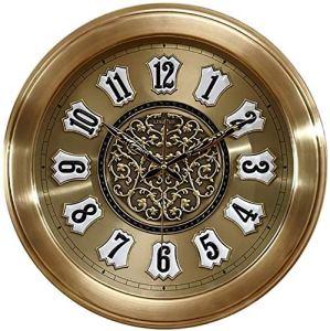 Circulaire Horloge Murale Avec Quartz Métal Accrocher Horloge, Design Moderne Ronde Diamant Horloge DÉCORATION Salon Et Batterie Chambre Powered, Mouvement Silencieux