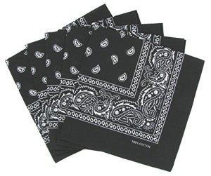 Laciteinterdite – Lot de 5 bandanas paisley noirs