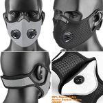 Masque de Sport Anti-poussière avec Filtre à Charbon Actif pour PM2.5, Moto, Sport, Course à Pied, Escalade(Ensemble 2 pièces)