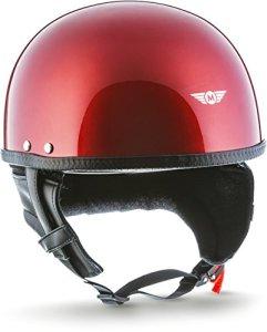 MOTO Helmets D22 Casque demi-coque en fibre de verre à fermeture rapide SlimShell