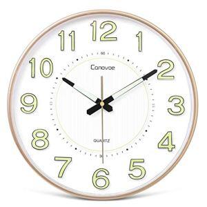 Silencieux Non Coutil Horloge Murale Grand Salon Décoratif Horloge – 12 Dans / 14po Lumineux Horloge Mode Atmosphère Silencieuse Horloge À Quartz, Convient For Le Salon, Chambre, Salle Accrocher Horlo