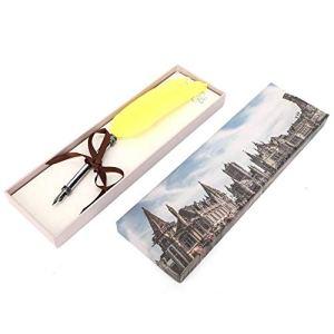 Stylo à Plume en Acier Inoxydable Stylo à Plume Signature Vintage Feather Pen pour Cadeaux d'affaires