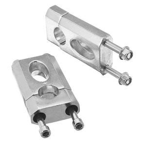 Tuneway 1 paire de supports de serrage en alliage d'aluminium pour guidon 110 cc 125 cc