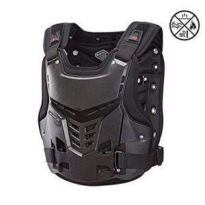 TZTED Gilet Moto Gilet Pare-balles, Protection Dorsale, Vélo, Ski, équitation, Planche à roulettes pour Moto Vélo Ski,Noir,M