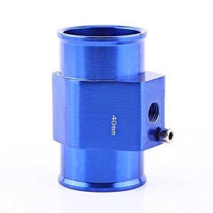 Adaptateur de Capteur de Température, Keesno Sonde Température de l'Eau Tuyau Universel en Alliage Aluminium Joint de Tuyau de Radiateur Bleu 26mm – 40mm(40mm)