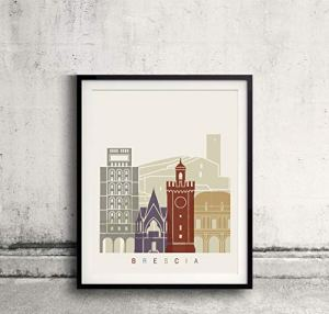 Brescia skyline poster Papel Mate 240gr 5×7 Inches